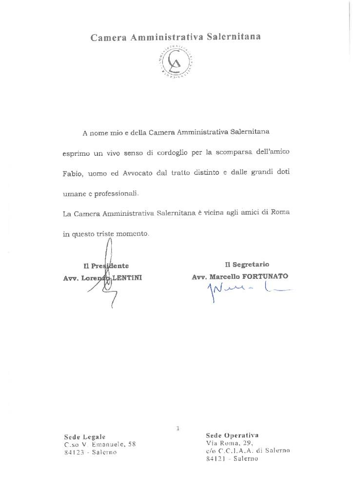 COMUNICATO DI CORDOGLIO AVV. LORENZONI-001